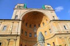 Музей страны Рима Италии Ватикана стоковое изображение