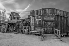 Музей фильма на Pioneertown в Калифорния в вечере - КАЛИФОРНИЯ, США - 18-ОЕ МАРТА 2019 стоковые фото