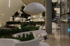 Музей центра Heydar Aliyev в Баку, Азербайджане Интерьер стоковые фотографии rf