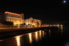 Музей электричества к ноча Стоковые Фото