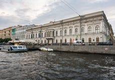 Музей Faberge от канала в Санкт-Петербурге, России Стоковые Фотографии RF
