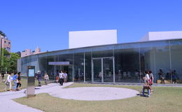 Музей Kanazawa двадцать первого века Стоковые Изображения
