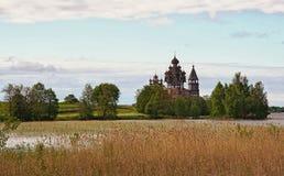 Музей Kizhi запаса на Lake Onega стоковое изображение rf