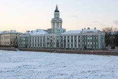 Музей Kunstkamera антропологии на Санкт-Петербурге Стоковые Изображения RF