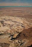 Музей Masada, пустыни Judean и мертвого моря Стоковая Фотография RF