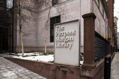 Музей NYC библиотеки Pierpont Моргана Стоковое Изображение