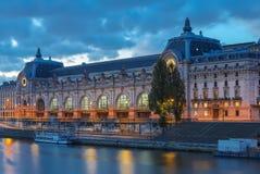 Музей Orsay музей в Париже, Франции, на левом береге Сены стоковое фото rf