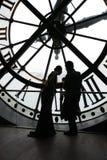Музей Orsay, часы Musee d Orsay, гигантские часы стоковая фотография rf
