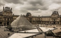 музей paris жалюзи Стоковая Фотография RF