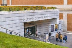 Музей Prado, Мадрид, Испания стоковая фотография rf