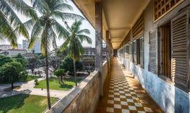 Музей Tuol Sleng/21 геноцида, Пномпень, Камбоджа стоковые фото