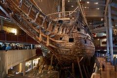 Музей Vasa и военный корабль Vasa шведский построенный между 1626 и 1628 стоковая фотография
