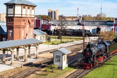 Музе-промышленное сложное депо пара в Москве стоковое изображение rf