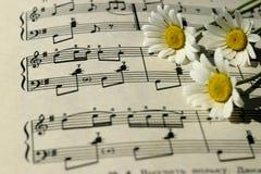 Музыкальная нотация - используемая для того чтобы записать музыку стоковые фото