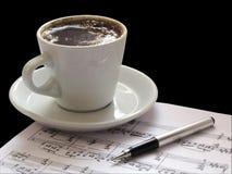 музыкальная нотация Стоковые Изображения RF