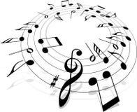 музыкальная нотация Стоковая Фотография RF