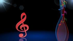 Музыкальная предпосылка, анимация видеоматериал