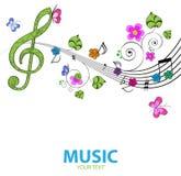 Музыкальная предпосылка Стоковая Фотография RF