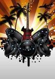 Музыкальная предпосылка grunge Стоковая Фотография