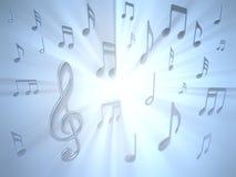 музыкальное примечание Стоковое Изображение