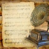 музыкальное ретро стоковое изображение