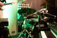 Музыкальные аппаратуры на этапе Стоковая Фотография RF
