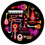 Музыкальные аппаратуры Стоковое Изображение RF