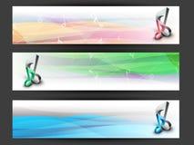 Музыкальные коллектор вебсайта или комплект знамени. иллюстрация вектора
