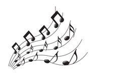 музыкальные примечания Стоковая Фотография