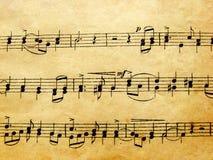 музыкальные примечания Стоковые Изображения