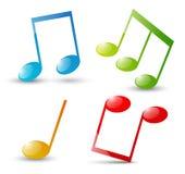Музыкальные примечания Стоковые Фотографии RF