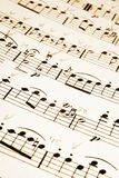 музыкальные примечания Стоковое фото RF
