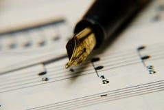 музыкальные примечания Стоковое Изображение RF