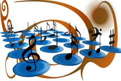 музыкальные примечания Стоковое Изображение
