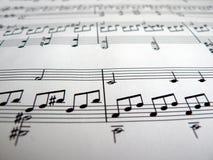 музыкальные примечания Стоковое Фото