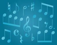 музыкальные символы Стоковая Фотография