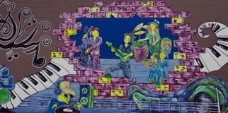 Музыкальный диапазон и DJ стенная роспись бесплатная иллюстрация