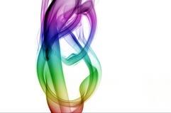 Музыкальный дым радуги стоковые фотографии rf