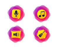 Музыкальный значок элементов Микрофон, ядровый диктор вектор иллюстрация штока