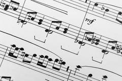 музыкальный лист Стоковые Изображения