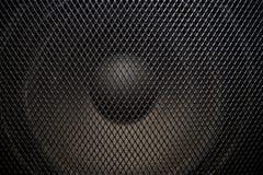 Музыкальный мощный диктор с защитным грилем стоковые фотографии rf