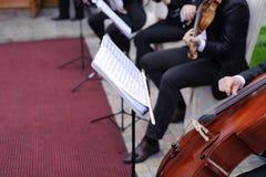 Музыканты в дворе Стоковое Изображение RF