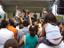 музыканты держателя толпы приятные Стоковое Изображение RF