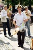 Музыканты на улице города Стоковое фото RF