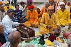 Музыканты на Pushkar справедливом Стоковые Изображения