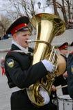 Музыканты оркестра - трубачи Стоковые Фотографии RF