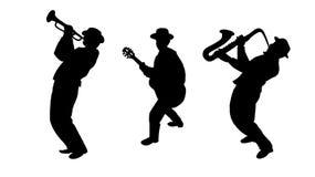 Музыканты трио джаза Стоковые Фотографии RF
