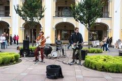 Музыканты улицы на Nevsky Prospekt, 29-ое сентября 2017, Свят-pe Стоковые Фото