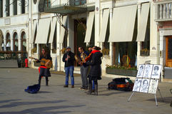 Музыканты улицы Венеции Стоковые Изображения RF