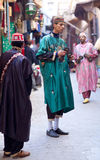 Музыканты улицы в Fez, Марокко Стоковые Фотографии RF